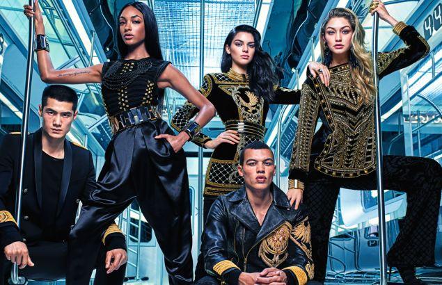 The Balmain x H&M squad (Photo: H&M)