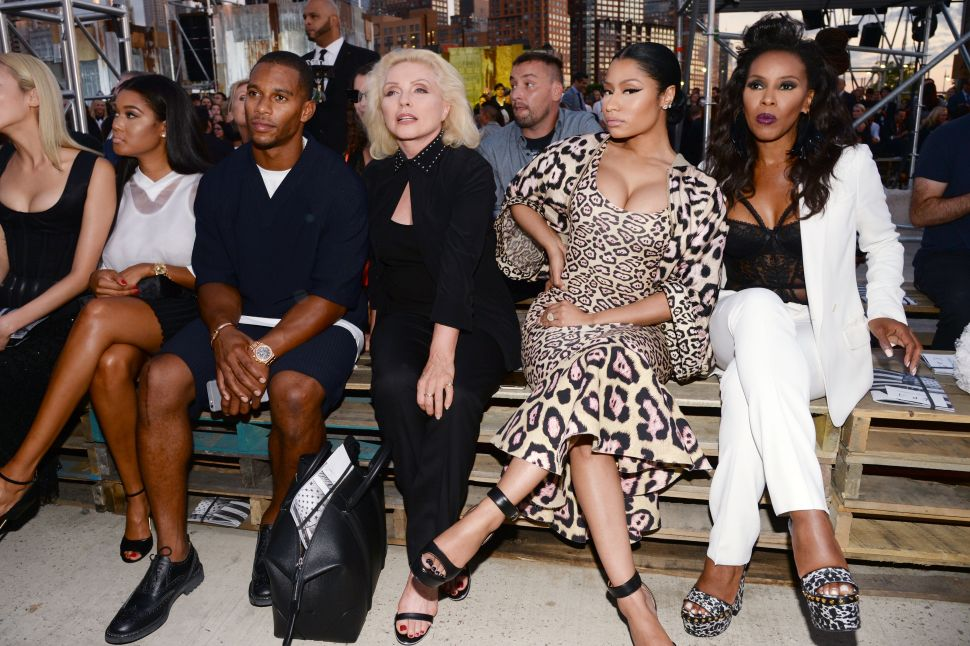 Victor Cruz, Debbie Harry, Nicki Minaj, June Ambrose (Photo: Clint Spalding for Patrick McMullan).