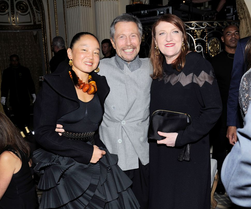 Karen Goude, Jean-Paul Goude, Glenda Bailey (Photo: Nicholas Hunt for Patrick McMullan)