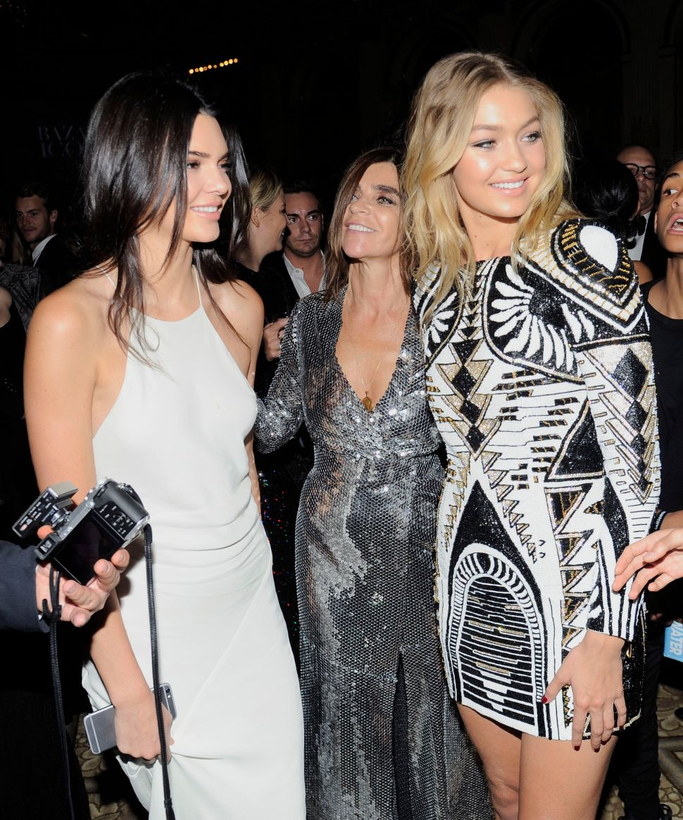 Kendall Jenner, Carine Roitfeld, Gigi Hadid (Photo: Sean Zann for Patrick McMullan)