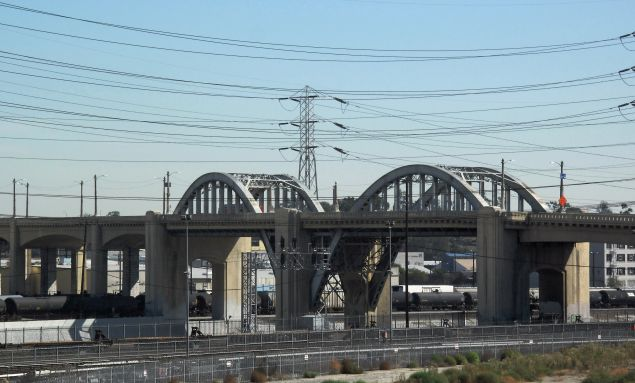 The Sixth Street bridge in Los Angeles.
