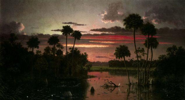 The Great Florida Sunset, Martin Johnson Heade, 1887.