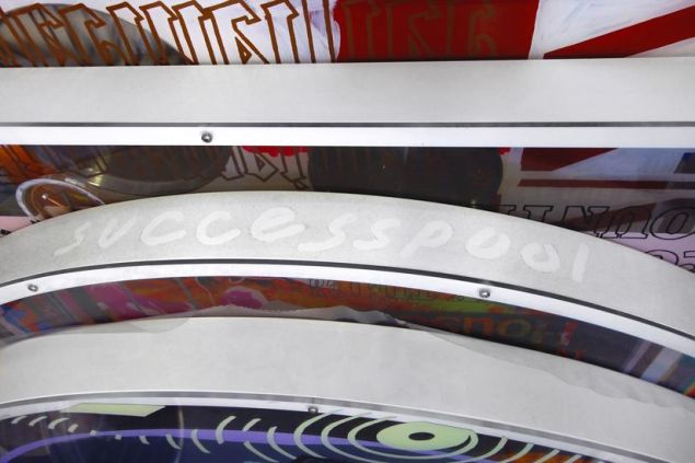 "Detail from Sean Kennedy's ""successpool."" (Photo: Courtesy of Rachel Uffner Gallery)"