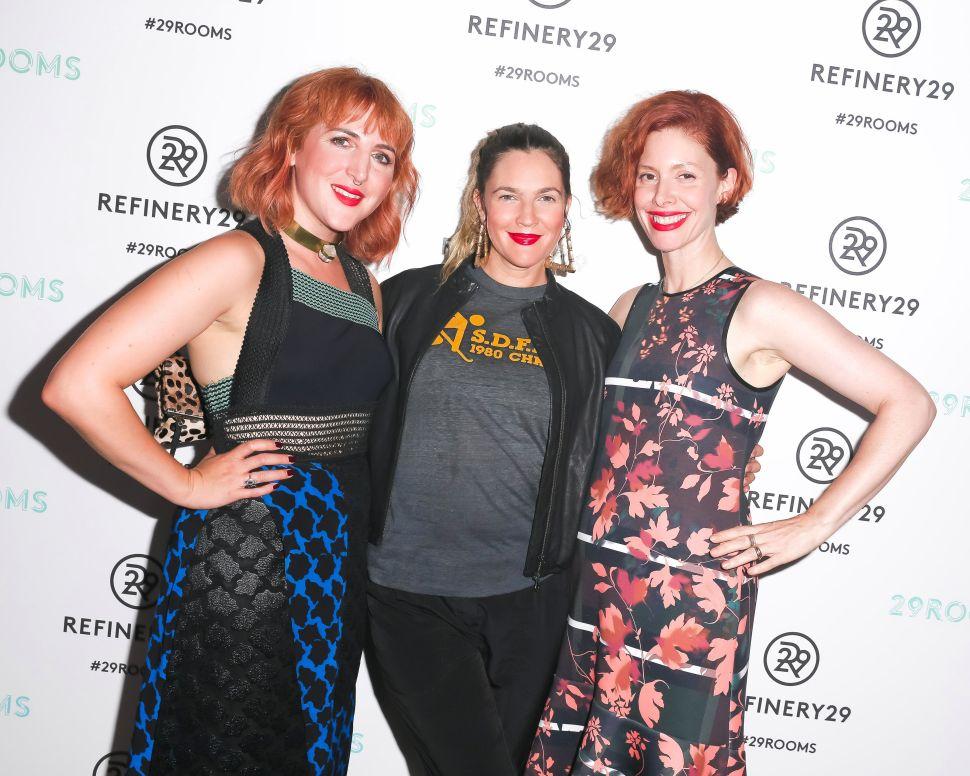Christene Barberich, Piera Gelardi, Drew Barrymore (Photo: BFA).