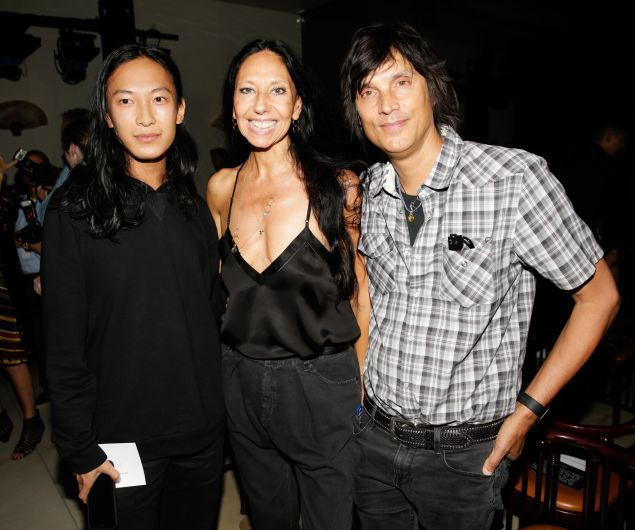 Alexander Wang with Vinoodh Matadin and Inez van Lamsweerde (Photo: Billy Farrell Agency)