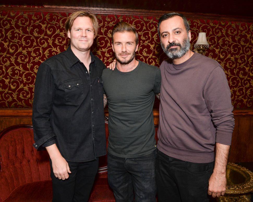 Mazdack Rassi, David Beckham, Geremy Jasper (Photo: BFA).