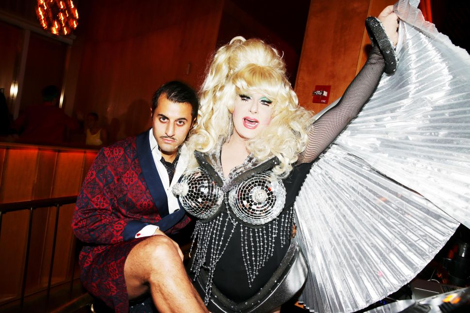 "Arman Nafeei, Lady Bunny at The Top of The Standard or ""The Boom Boom Room"" (Photo: BFA)."