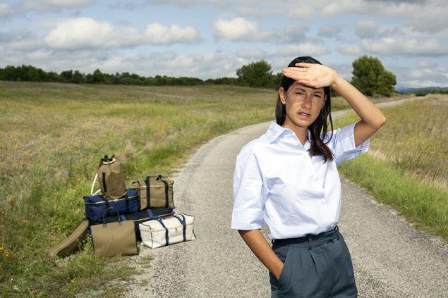 Jeanne Signoles and some L/Uniform luggage. (Photo courtesy of L/Uniform)