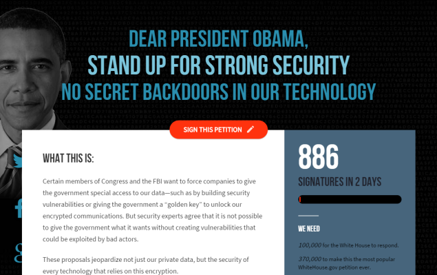 Tech companies are urging President Obama to support strong Internet security. (Photo: Screenshot)