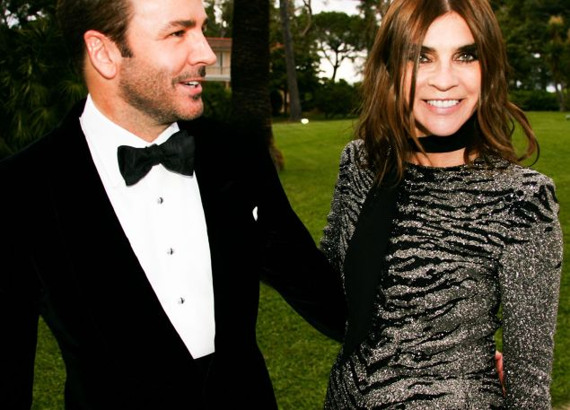 Tom Ford with Ms. Roitfeld (Photo: Pierre-Alban Hue de Fontenay)