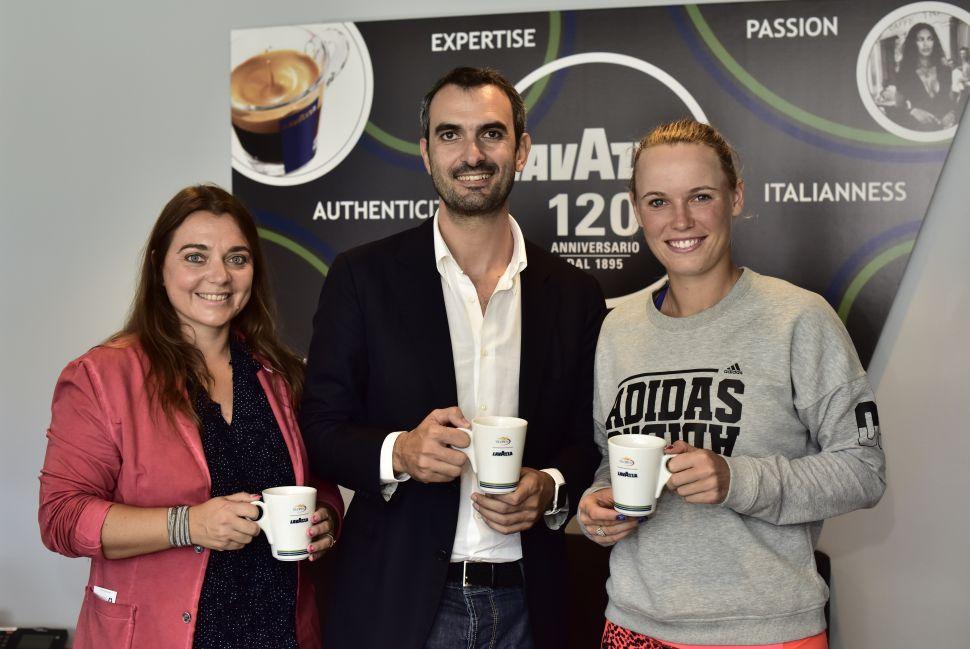 Marco Lavazza, Francesca Lavazza, Marco Lavazza, Caroline Wozniacki (Photo: Lavazza).