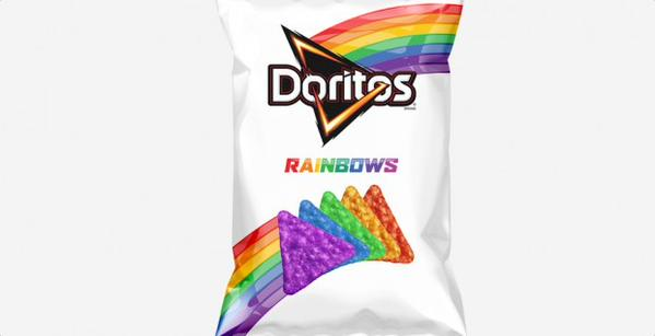 Proceeds from sale of new rainbow colored Doritos will go to the It Gets Better Project. (Photo: Twitter)