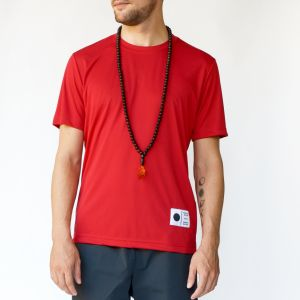 A t-shirt, shorts and beads from Moon & Son. (Photo courtesy)