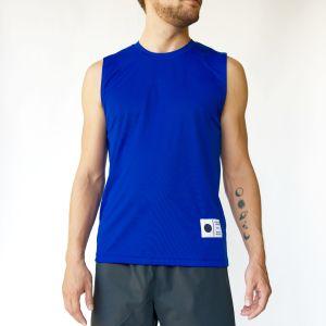 Moon & Son's astronaut blue sleeveless t-shirt. (Photo courtesy)