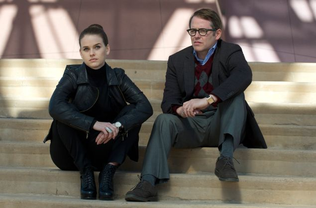 Alice Eve and Matthew Broderick in Dirty Weekend.