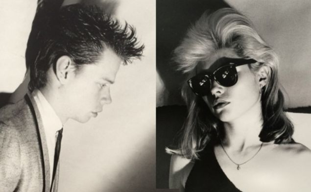 Jimmy DeSana, James Chance, 1978 (L) and Christopher Makos, Debbie Harry, 1980 (R). Courtesy Rare / Glenn Horowitz Bookseller