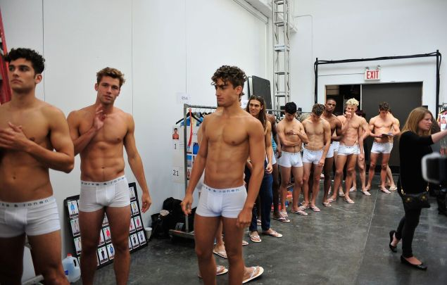 Another show, another backstage shot (Photo: Parke & Ronen).