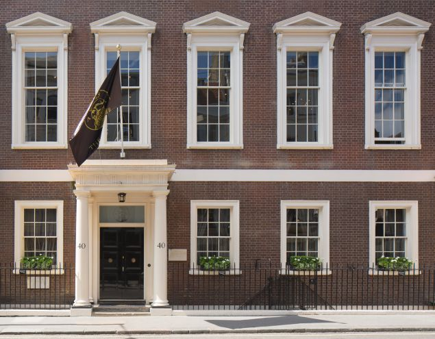 Exterior, The Arts Club facade in Mayfair, London. (Photo: Courtesy of Ed Reeve)
