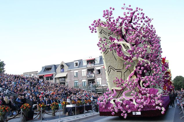 A float resembling the Japanese flowering trees that were recurring motifs in van Gogh's paintings. (Photo: Werner Pellis)