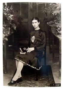 Frida Kahlo at 18 taken by her father Guillermo in 1926. (Photo: Throckmorton Fine Art)
