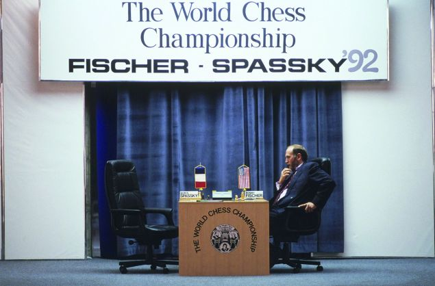 Bobby Fischer during his 1992 rematch against Boris Spassky.