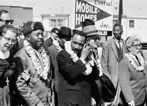Martin Luther King, Jr. and Rabbi Abraham Joshua Heschel (far right) Photo: Getty Images