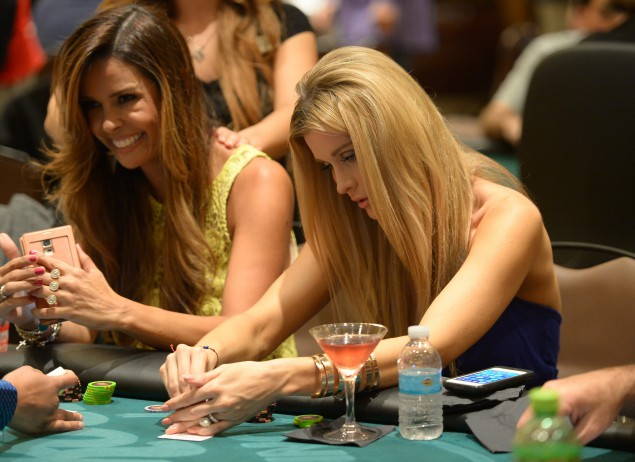 HOLLYWOOD, FL - AUGUST 27:  Karent Sierra and Joanna Krupa attend the Hollywood Charity Series Of Poker Supported By PokerStars To Benefit Habitat For Humanity at Seminole Hard Rock Hotel & Casino & Hard Rock Cafe Hollywood on August 27, 2014 in Hollywood, Florida.  (Photo by Gustavo Caballero/Getty Images for PokerStars)