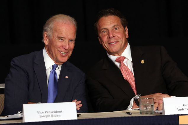 Vice President Joe Biden with Gov. Andrew Cuomo. (Photo: Spencer Platt/Getty Images)