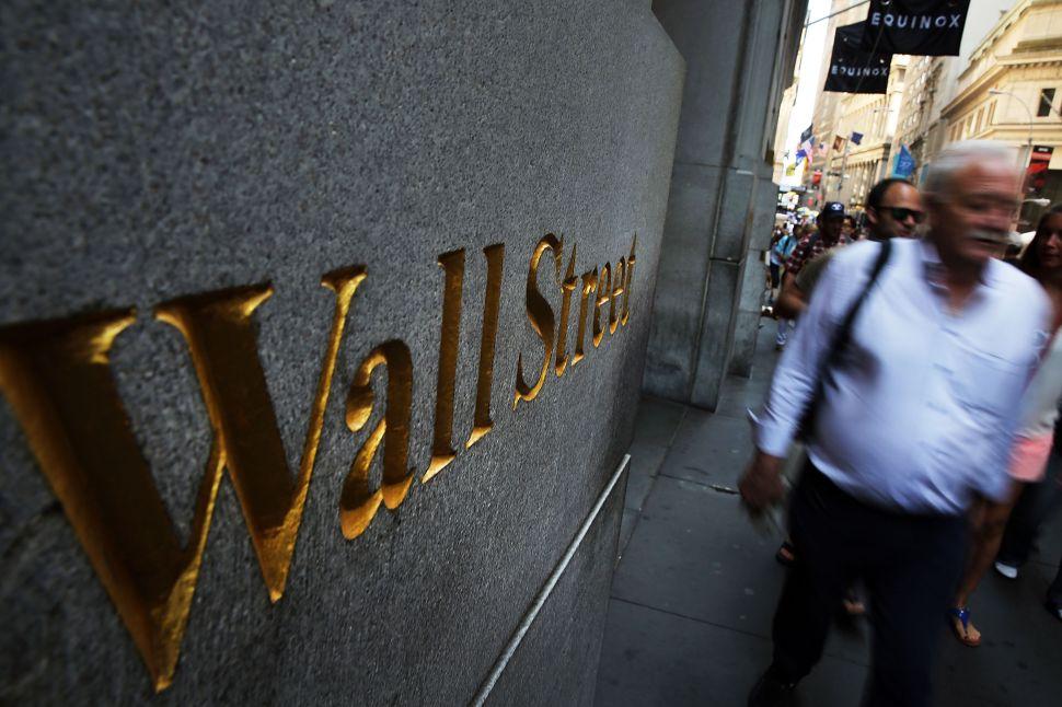 Wall Street. (Photo: Spencer Platt/Getty Images)