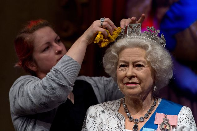 The crown must be polished to its full sparkling glory, of course. (Photo: Ben Pruchnie/Getty Images)