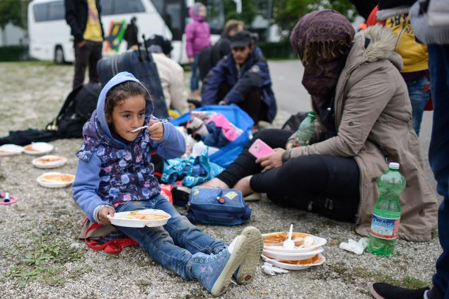 Syrian refugees in Munich, Germany. (Photo: Philipp Guelland/Getty Images)