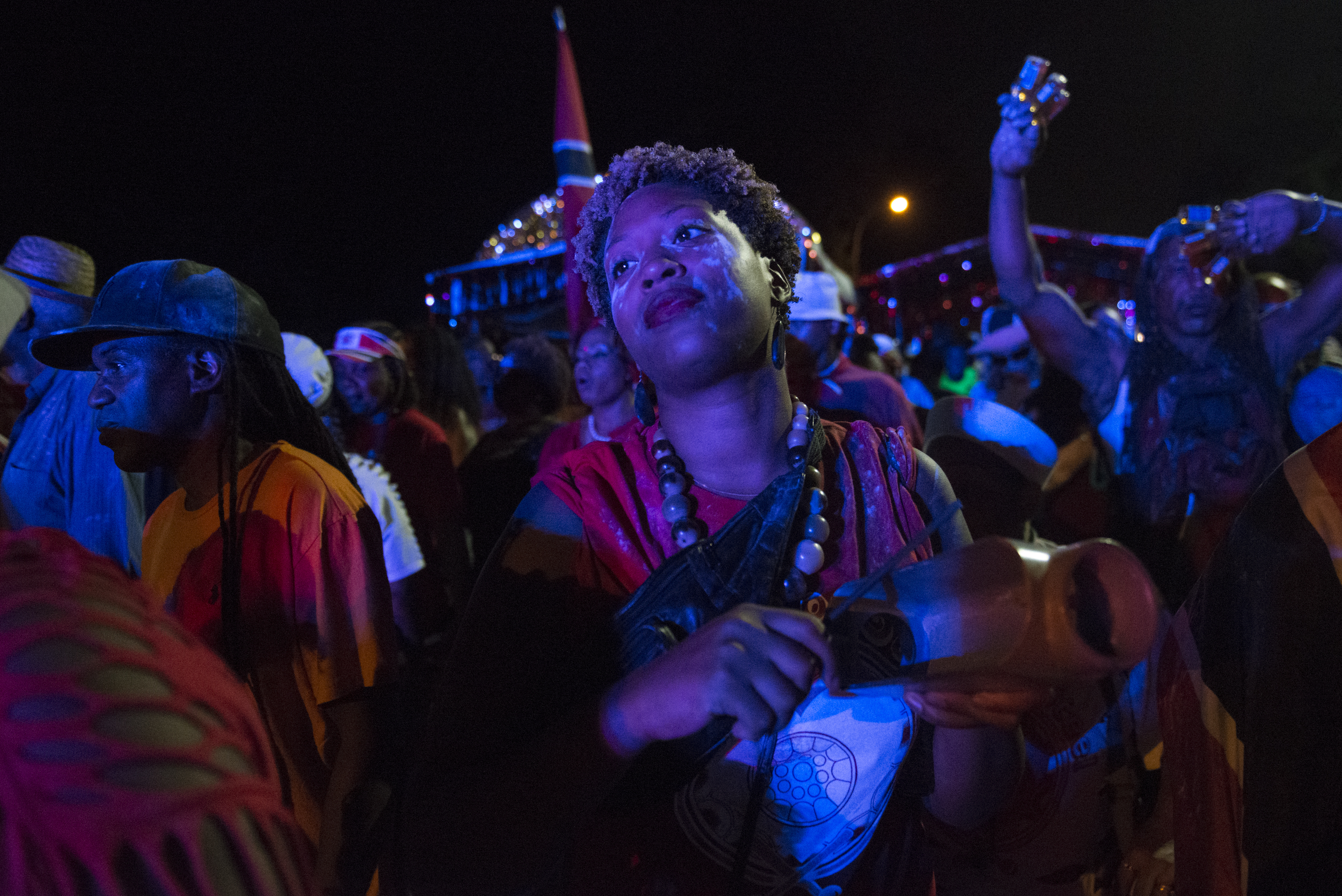 Revelers participate in Jouvert, an annual Caribbean street festival, celebrated each Labor Day in Brooklyn (Photo by Stephanie Keith/Getty Images)