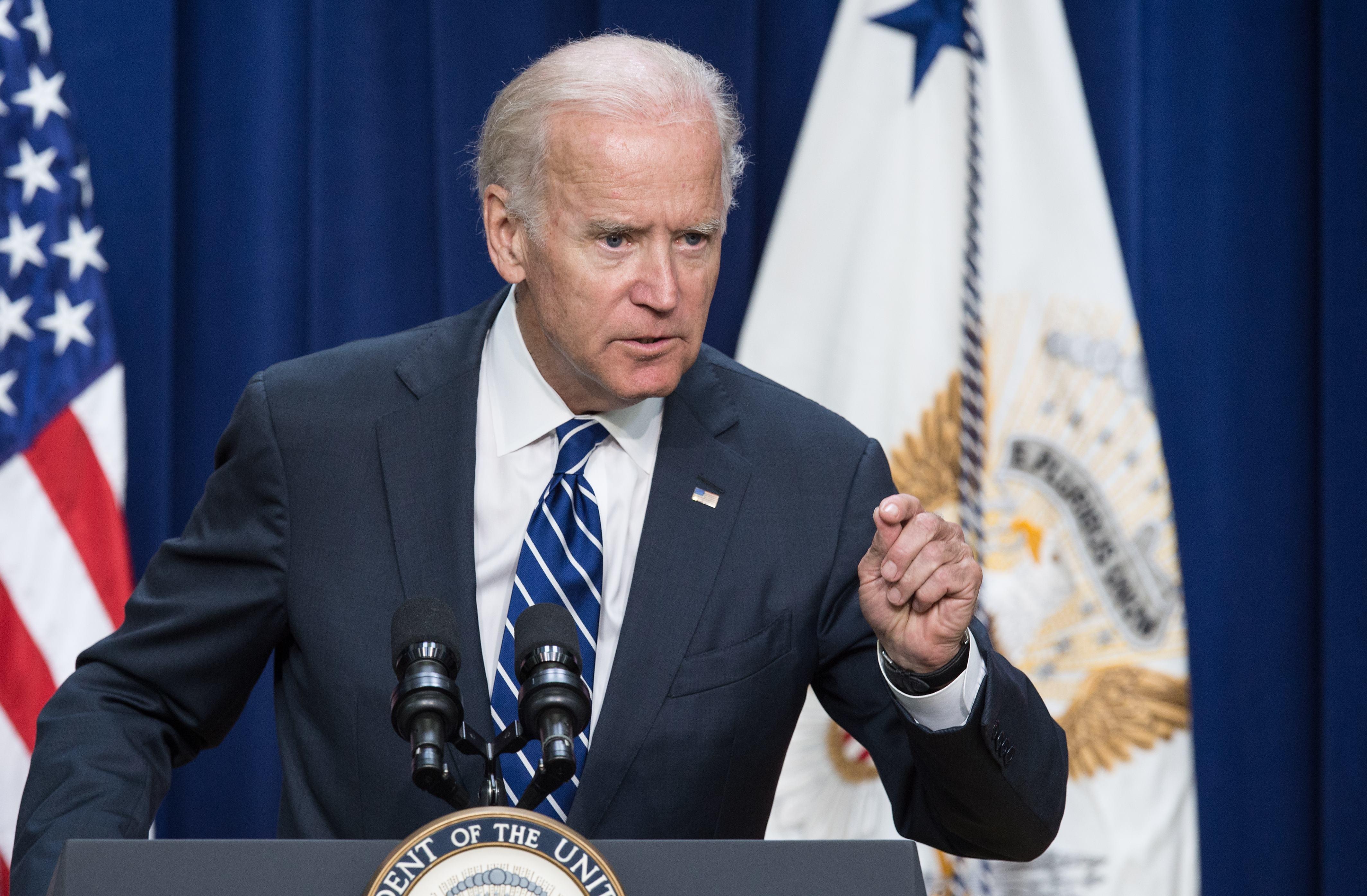 Vice President Joe Biden earlier this week in Washington. (NICHOLAS KAMM/AFP/Getty Images)