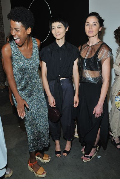 Rachel Comey models backstage (Photo: Getty Images)