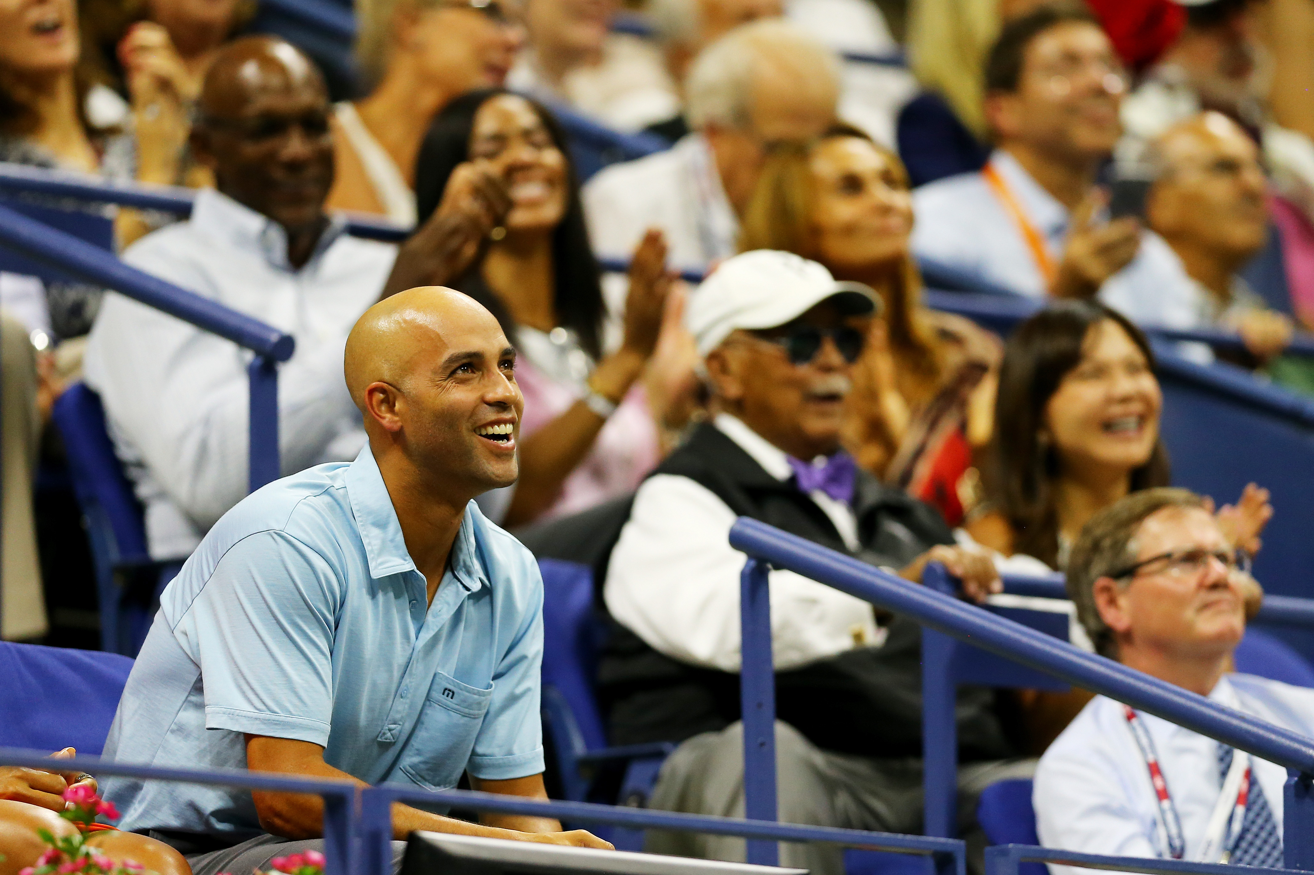 James Blake attends the Men's Singles Semifinals match at the U.S. Open in Flushing, Queens. (Photo: Maddie Meyer/Getty Images)
