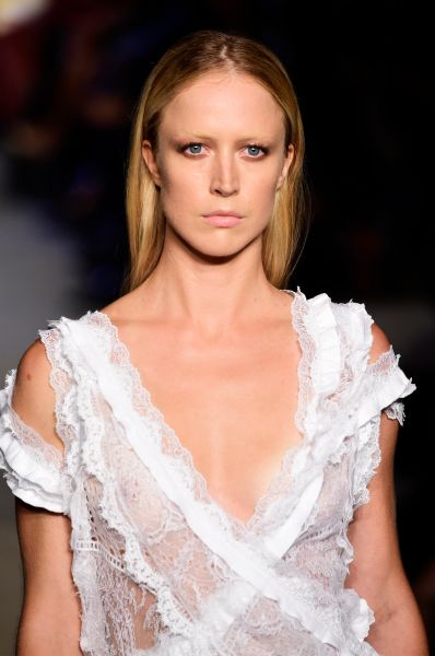 Showing off the shoulders at Givenchy (Photo: Getty Images).