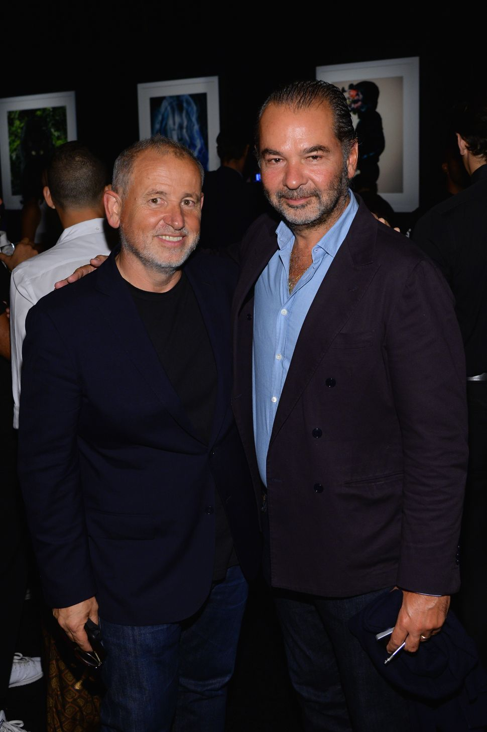 Art Director Fabien Baron, Chairman and Creative Director of Moncler, Remo Ruffini (Photo: Andrew Toth for Getty Images).