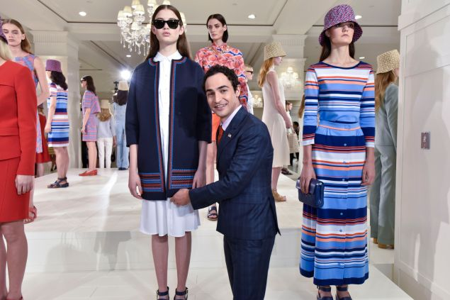 Zac Posen with his first Brooks Brothers collection (Photo: Eugene Gologursky/Getty Images for Brooks Brothers)