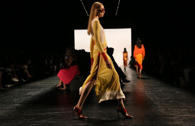 An angle of the Prabal Gurung show (Photo: Trevor Collens/AFP/Getty Images).