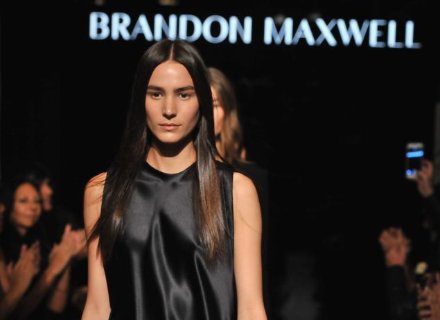 Brandon Maxwell unveils his first fashion show (Photo: Fernando Leon/Getty Images for Brandon Maxwell).