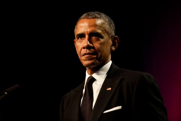 WASHINGTON, DC - SEPTEMBER 19: U.S. President Barack Obama delivers remarks at the Congressional Black Caucus Foundation's 45th Annual Legislative Conference Phoenix Awards Dinner at the Walter E. Washington Convention Center, on September 19, 2015 in Washington, DC. Obama paid tribute to female leaders in civil rights. (Photo by Aude Guerrucci - Pool/Getty Images)