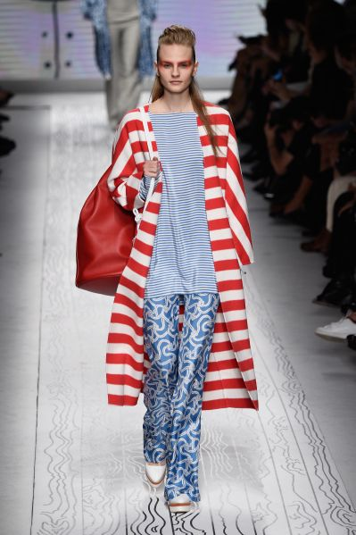 A look that is both nautical and patriotic (Photo: Pietro D'Aprano/Getty Images).