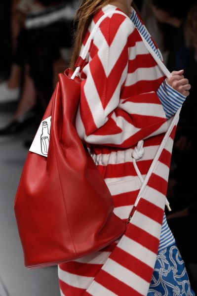 A closer look at the Max Mara bags (Photo: Pietro D'Aprano/Getty Images).
