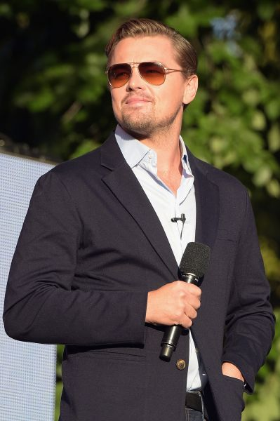 NEW YORK, NY - SEPTEMBER 26: Actor Leonardo DiCaprio speaks on stage at the 2015 Global Citizen Festival to end extreme poverty by 2030 in Central Park on September 26, 2015 in New York City. (Photo by Theo Wargo/Getty Images for Global Citizen)