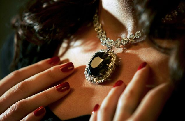The Black Orlov diamond has a less-than-sparking past (Photo by Bruno Vincent/Getty Images)