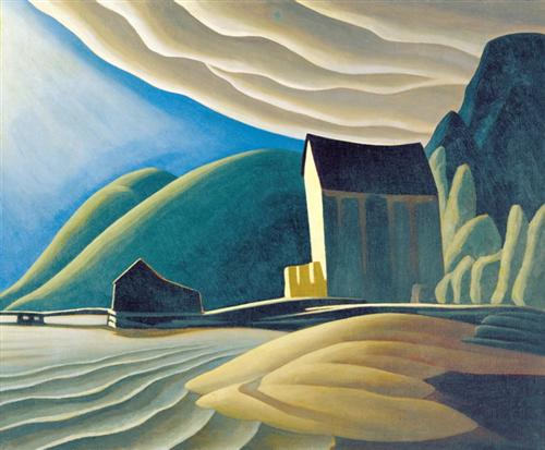 Ice House, Coldwell, Lake Superior, by painter Lawren Harris from 1923.