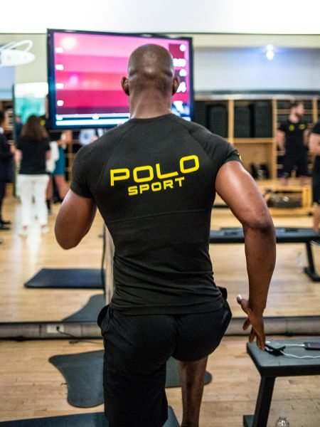 Ralph Lauren's PoloTech smartshirt in action. (Photo courtesy of Ralph Lauren)