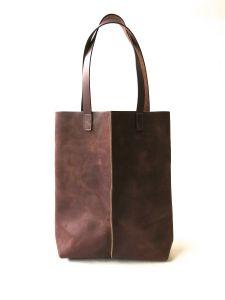 Large brown leather tote KIKA NY, $545. (Photo: KIKA NY)