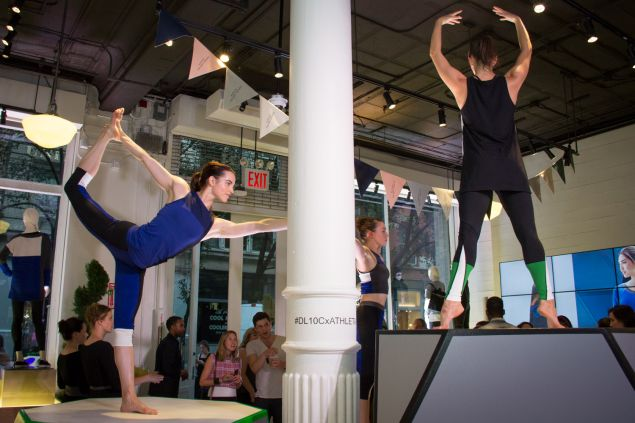 Models performed yoga around the store. (Photo: Observer/Kaitlyn Flannagan)