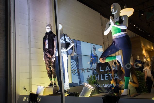 The window of Athleta's Soho store. (Photo: Observer/Kaitlyn Flannagan)